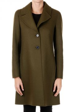 Single Breasted Mixed Virgin Wool Coat