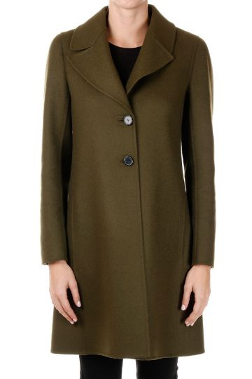 Single Breasted Mixed Virgin Wool Coat
