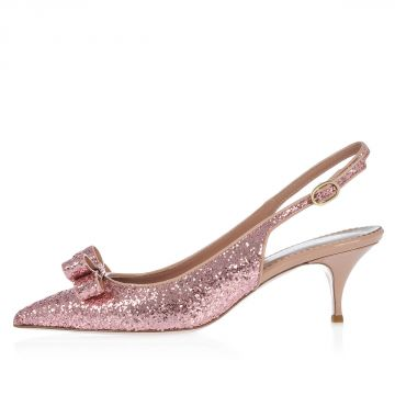 RED VALENTINO Glitter Leather Sandals