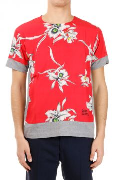Floral Printed round Neck T-shirt