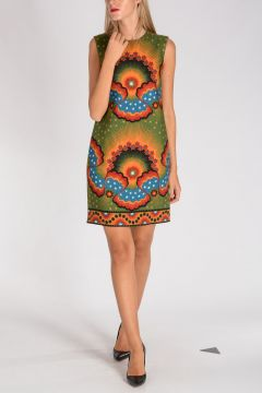 Virgin Wool & Silk Printed Dress