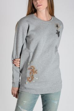 RED VALENTINO Embroidery Cotton sweatshirt