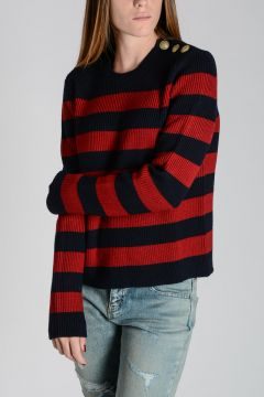 RED VALENTINO Knitted Virgin Wool Sweater