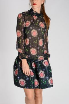RED VALENTINO Silk Long Sleeves Top