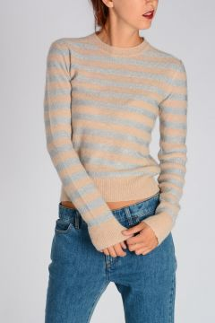 Glitter Striped Sweater