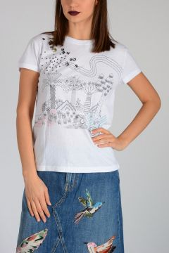 Printed Embroidery T-shirt