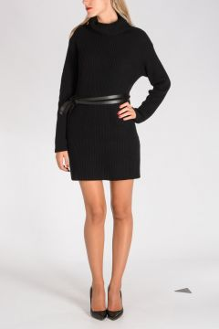 Virgin Wool & Cashmere Sweater Dress