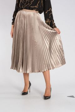 Viscose & Silk Pleated Skirt