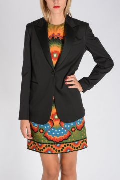 Stretch Virgin Wool & Silk Blazer