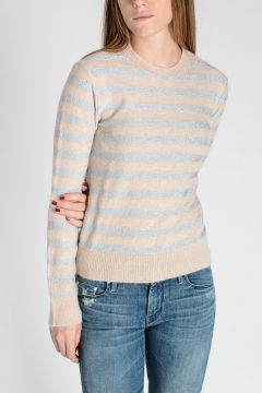 Striped Sweater with Lurex Deatils