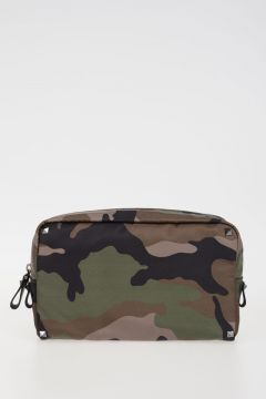 GARAVANI Camouflage Fabric Beauty Bag