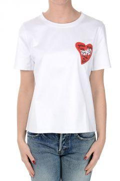 T-Shirt a Girocollo in Cotone