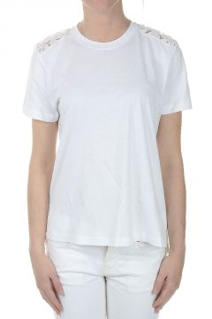 Rear embroidery Roundneck T-shirt