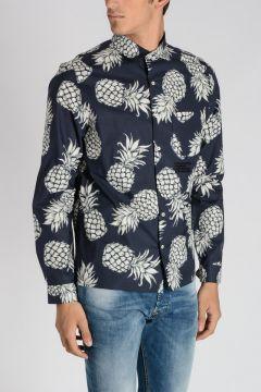 Pineapple Cotton Blend Shirt