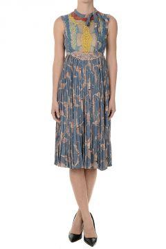 Silk Plisse Dress