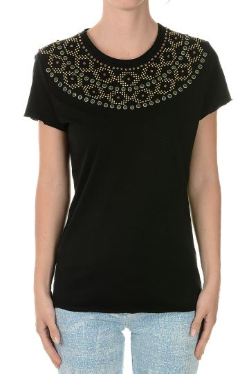 Studded Cotton T-shirt