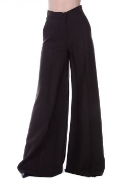 Silk Blend Wide Leg Pants