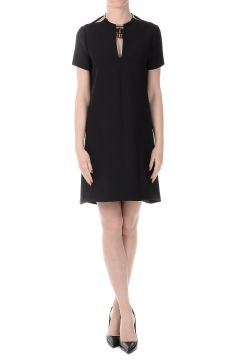 Virgin Wool and Silk Tunic Dress