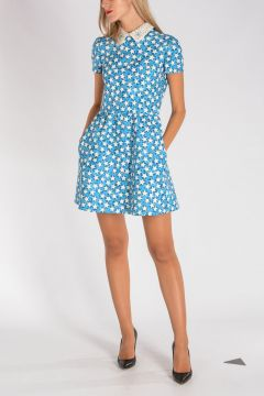 Virgin Wool & Silk Star Printed Dress