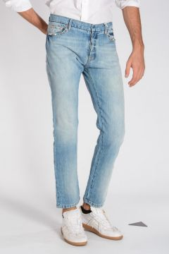 ROCKSTUD UNTITLED 06 Jeans in Denim con Borchie 18 cm