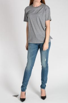 Studded Jersey Cotton T-shirt
