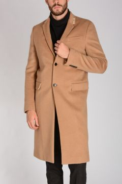 Wool coat With Gold Tone Studs