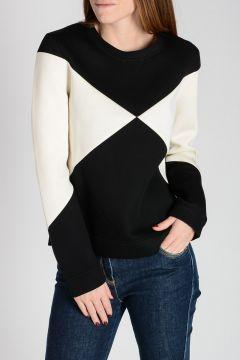 Bicolor Neoprene Sweatshirt