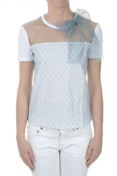 RED VALENTINO T-shirt with Lace Details