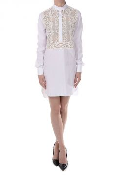 Cotton Embroidered Tunic Dress