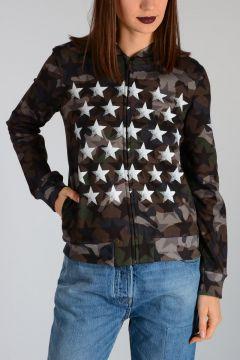 Full Zipped Camouflage Sweatshirt