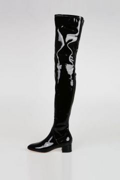 VALENTINO GARAVANI Patent Leather Knee High Boots