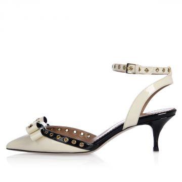 Sandalo Ankle Strap in Pelle Verniciata