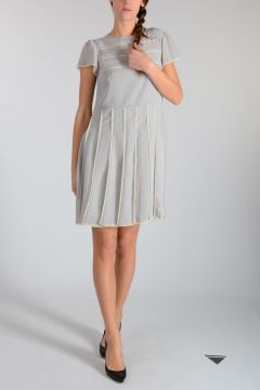Tea Dress With Short Sleeves