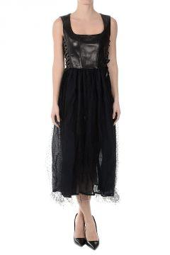 Hip Ribbon Tulle Sleeveless Dress