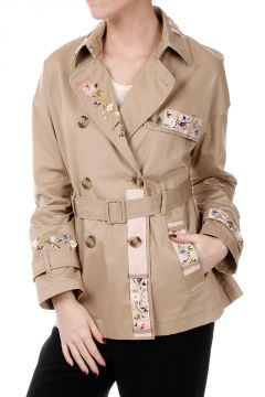 Cotton Embroidered Trench