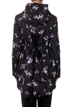 Floral Printed Hooded Jacket