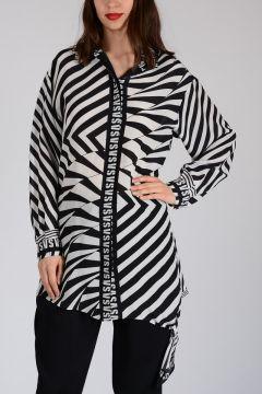 VERSUS Zebra striped Print Blouse