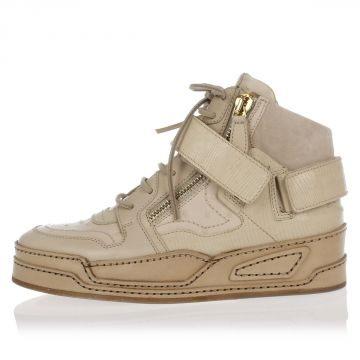 Ostrich Leather High Sneakers