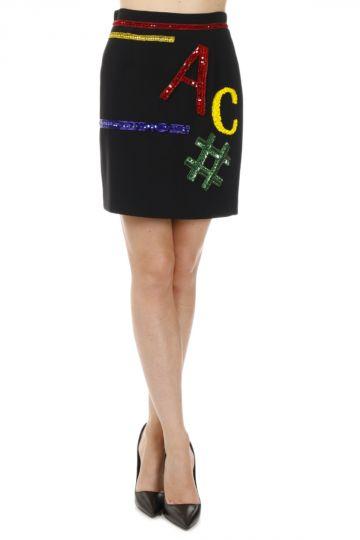 Silk Mini Skirt with Strass