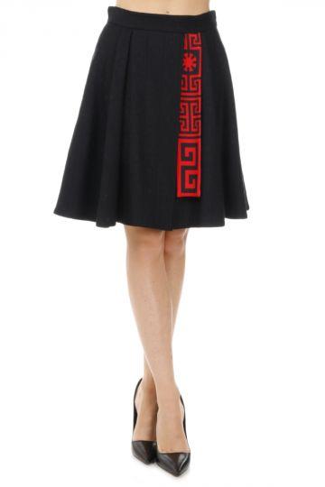 Wool silk Printed Skirt