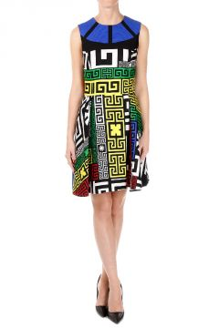 Geo print Sleeveless Dress