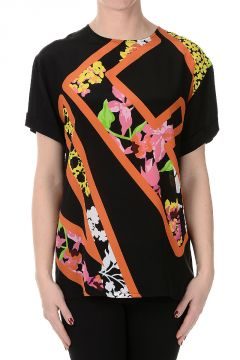 T-shirt Stampata in Seta
