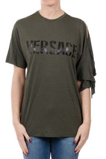 Roundneck Bluse with Open Sleeve