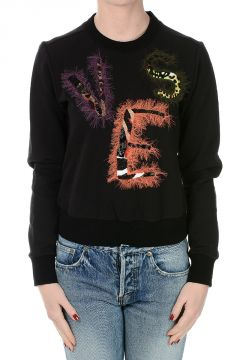 Embroidered Round Neck Sweater
