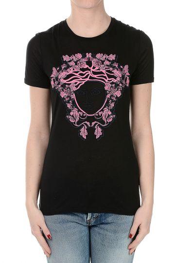 T-Shirt Ricamata a Manica Corta