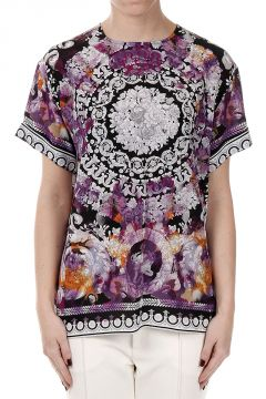 T-shirt in Seta Fantasia Floreale