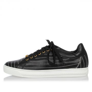 Leather Embroidery Sneakers