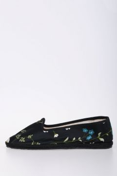 Embroidered Fabric Flat Ballet Shoes