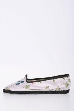 Floral Fabric Flat Ballet Shoes