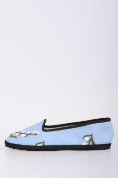 Embroidered Flat Ballet Shoes